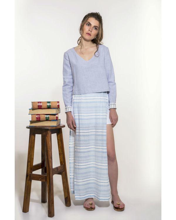 Striper full length skirt