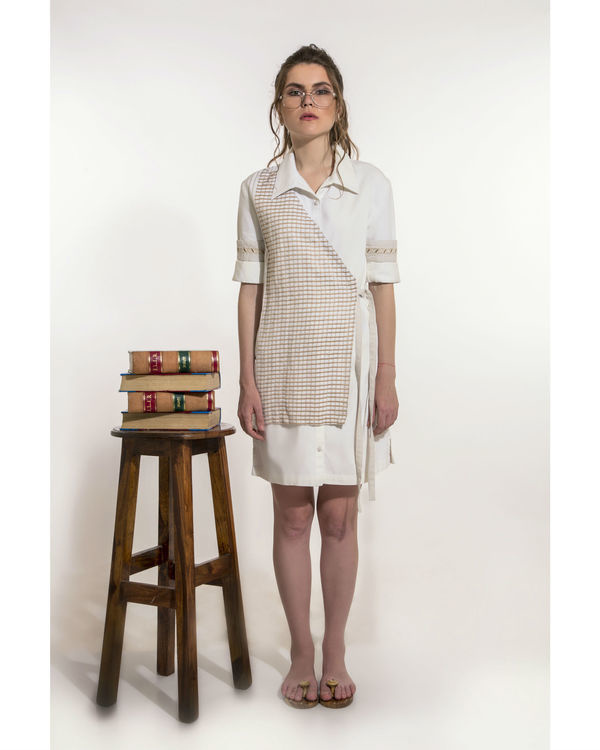 Off-white shirt dress