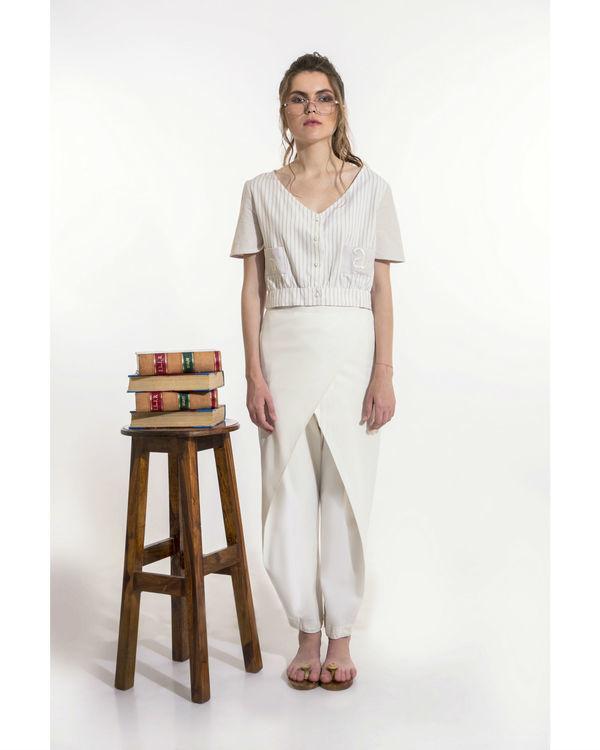 Off-white overlap pants