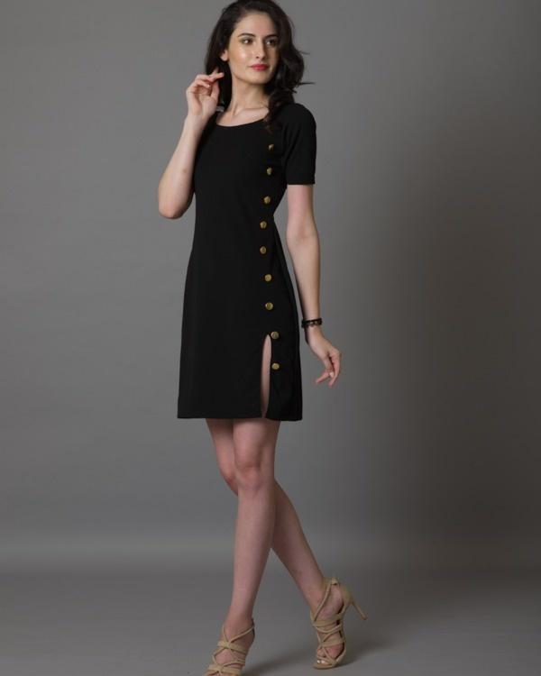 I-see-gold black dress