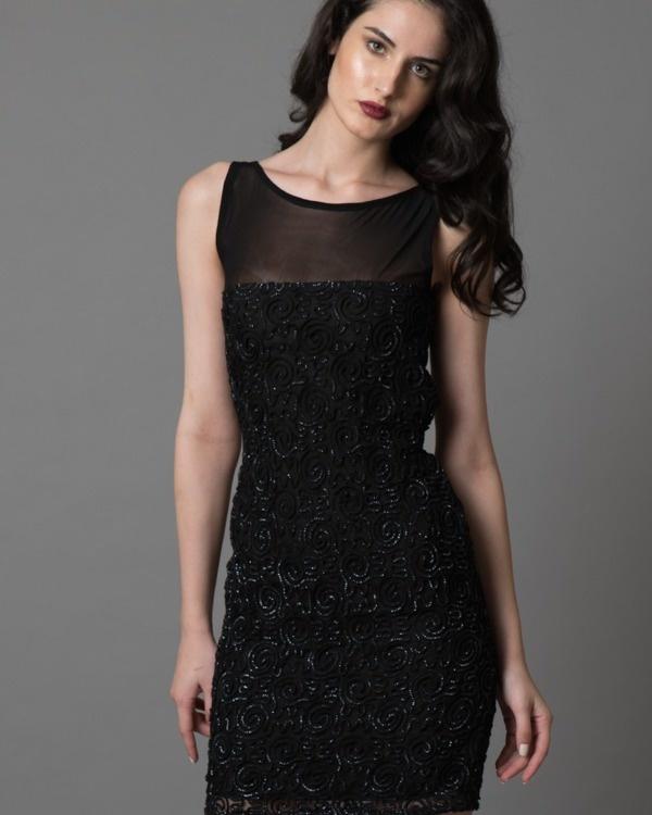 Sheer n shimmer dress