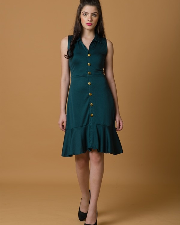 Do-the-swing green dress