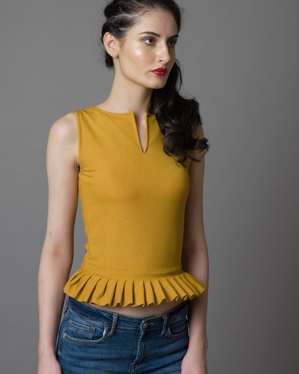 Out-the-back ruffled top