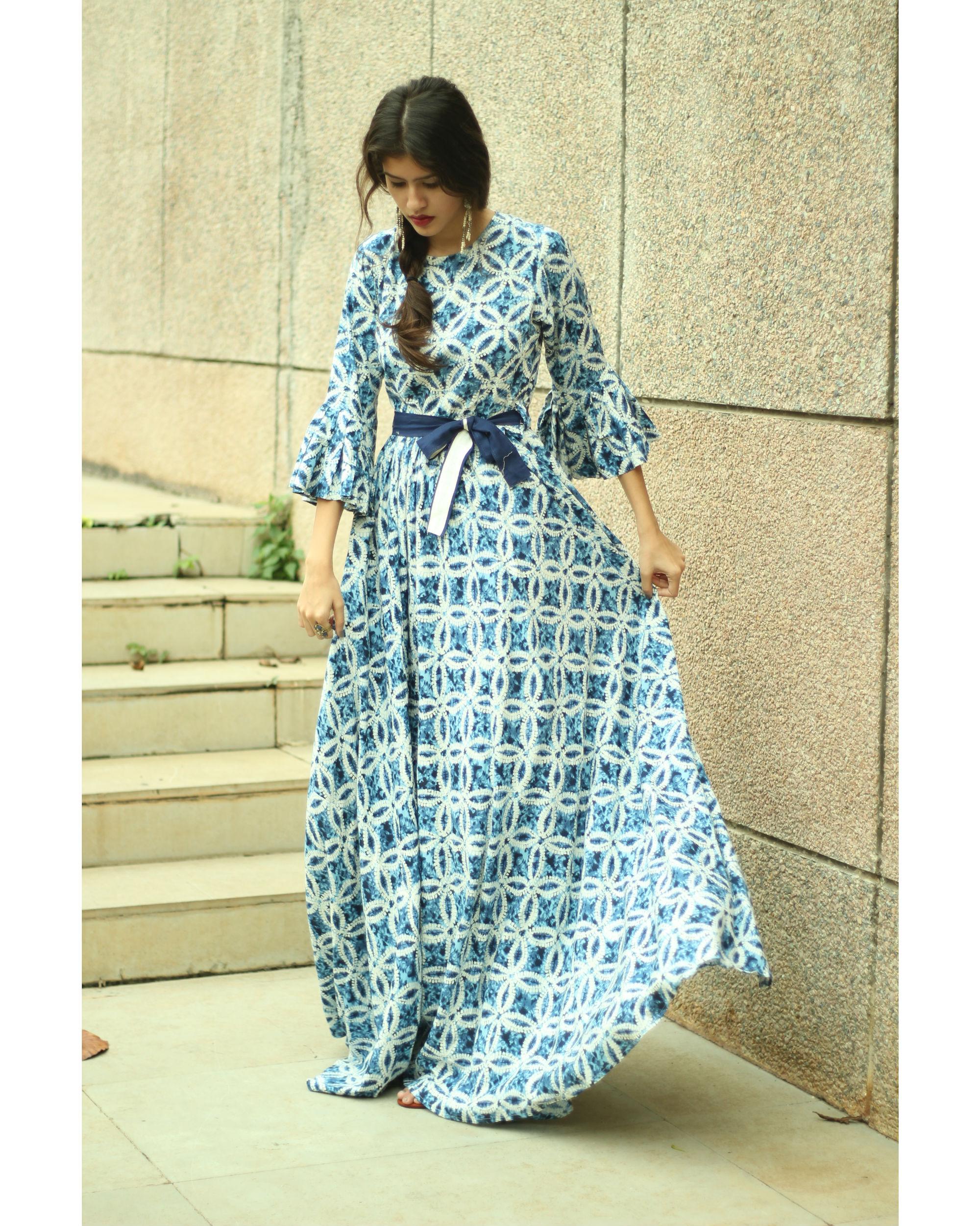 Ocean belt dress