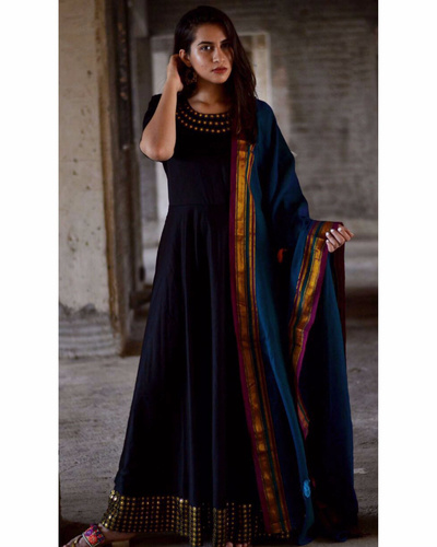 Black Boho Dress With Dupatta