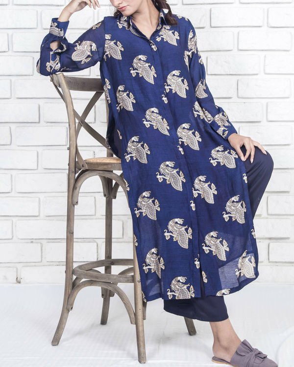 Peacock shirt kurta