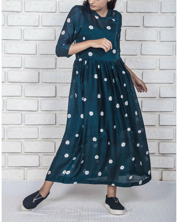 Midnight blue irregular slaids dress