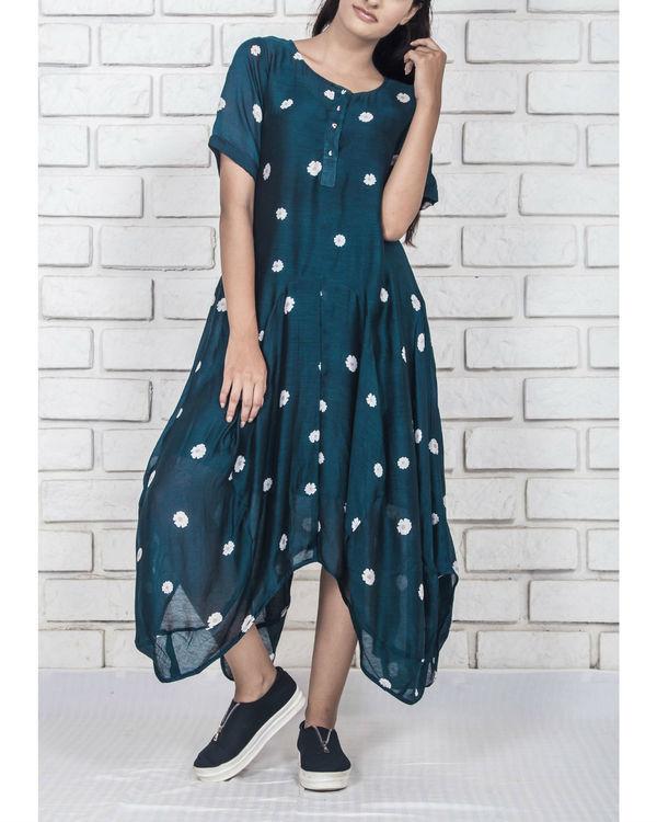 Midnight blue high low comfort dress