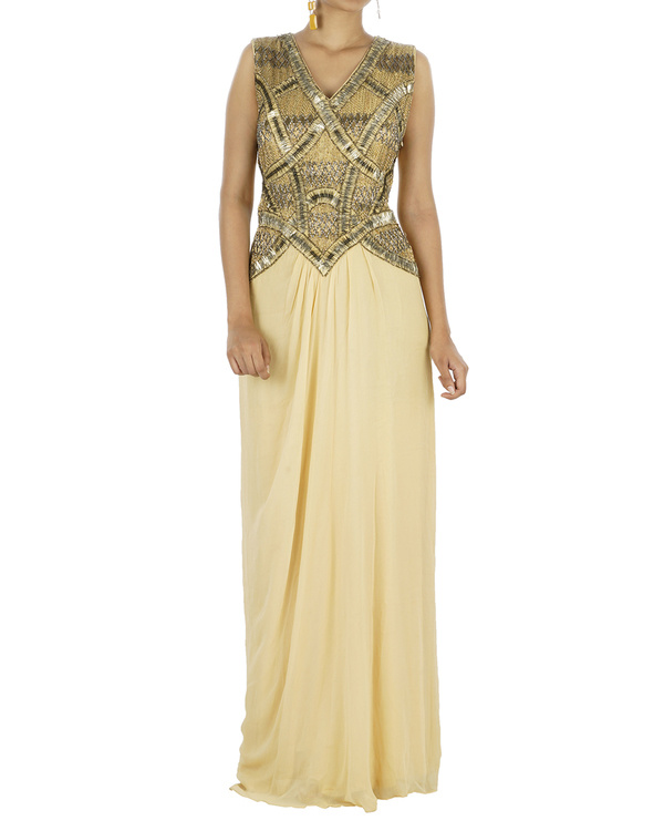 Nude drapped gown