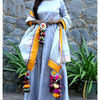 Thumb silvergrey long dress and dupatta set 1