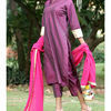 Thumb berrypurple silk suit set 1