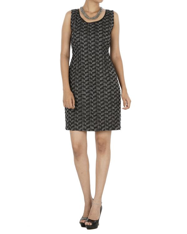 Black and grey shift dress