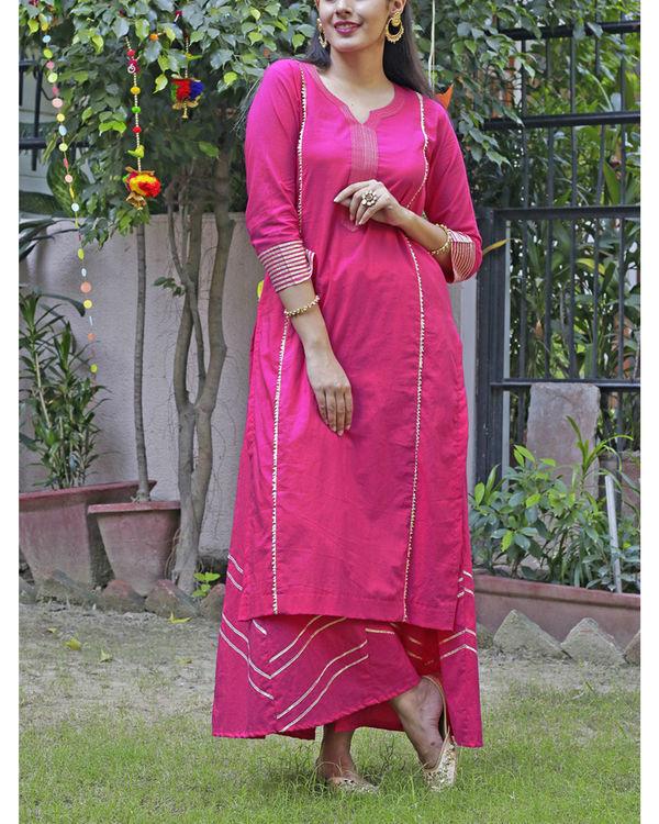 Hot pink sharara set