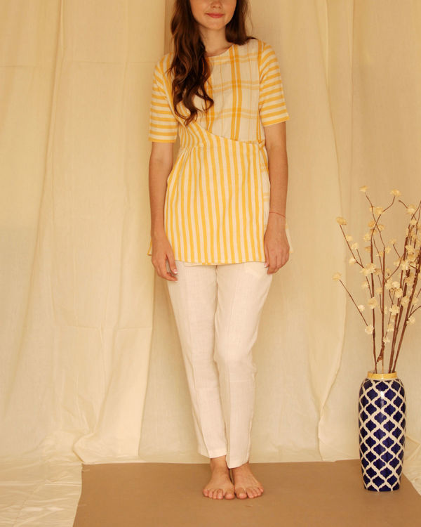 Yellow panelled top