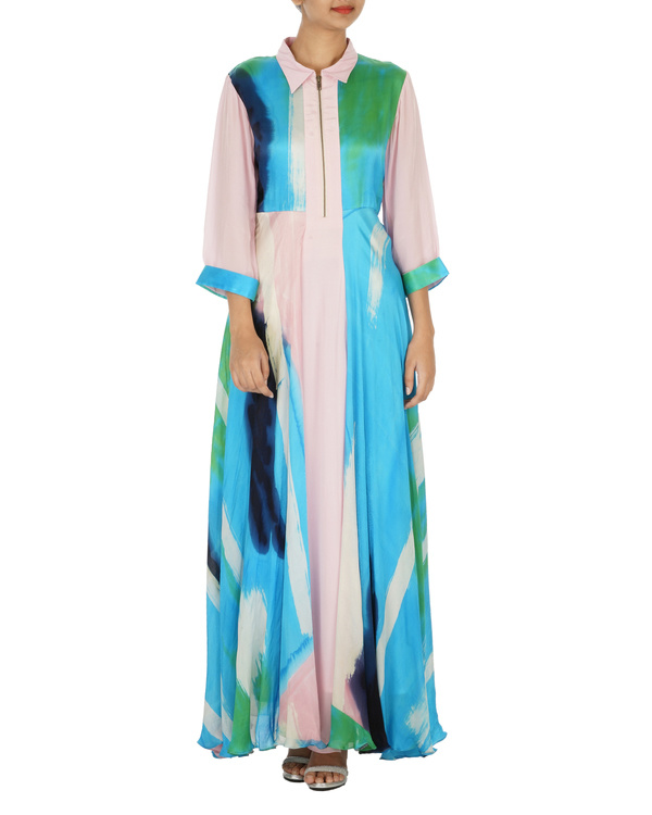 Hand painted panelled dress