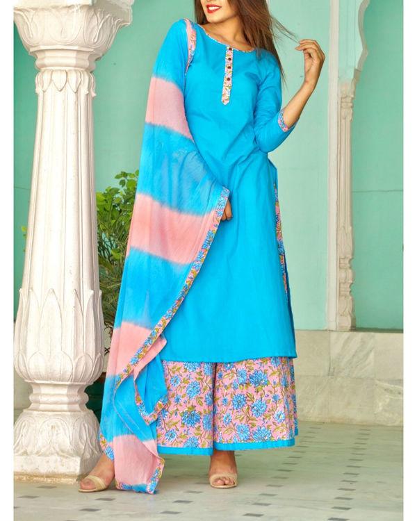 Turquoise sharara set