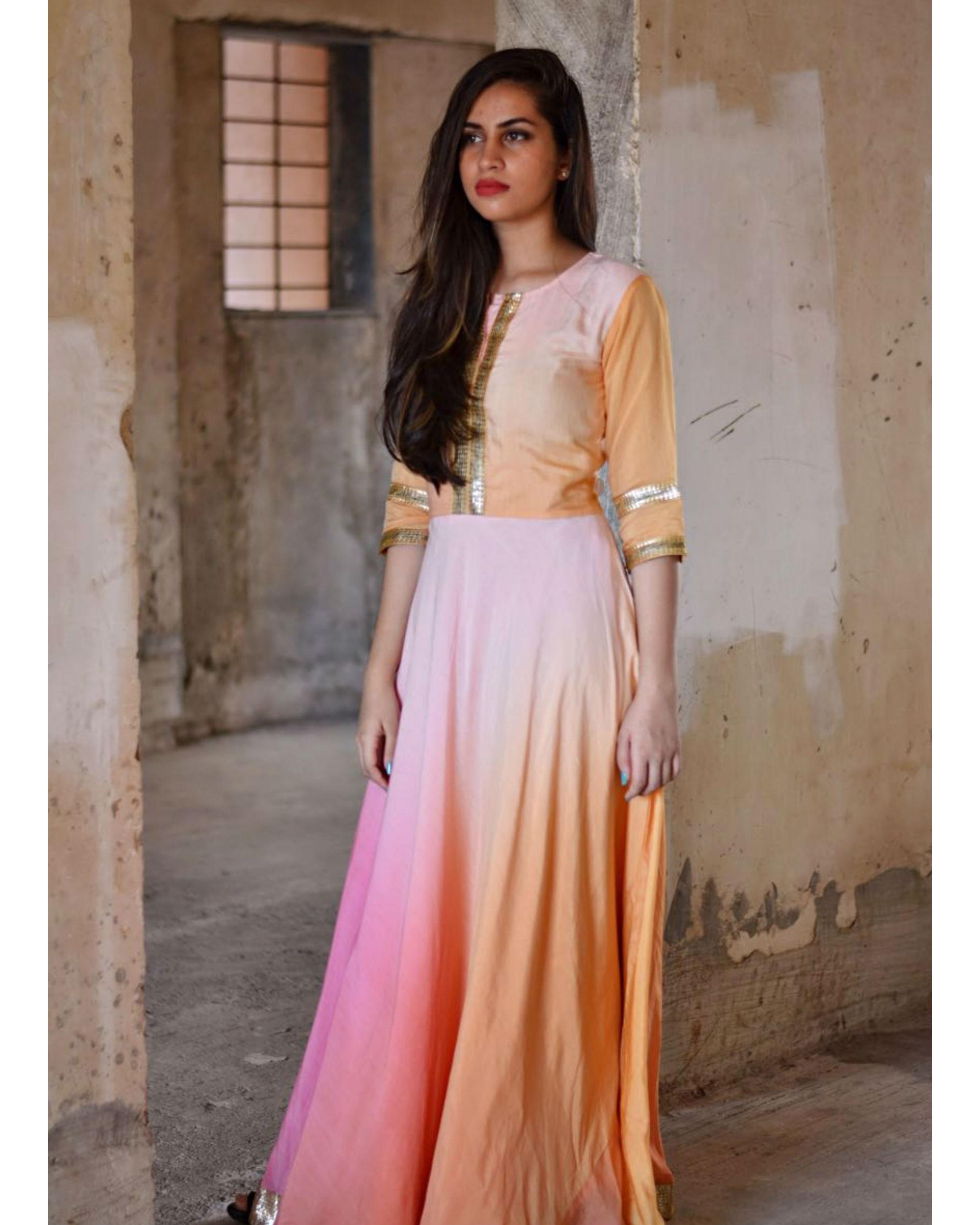 Shades of pink maxi dress