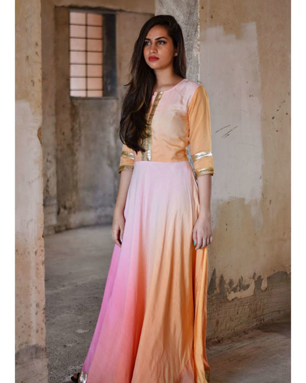 Shades of pink maxi dress
