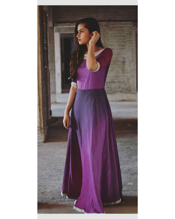 Shades of purple maxi dress