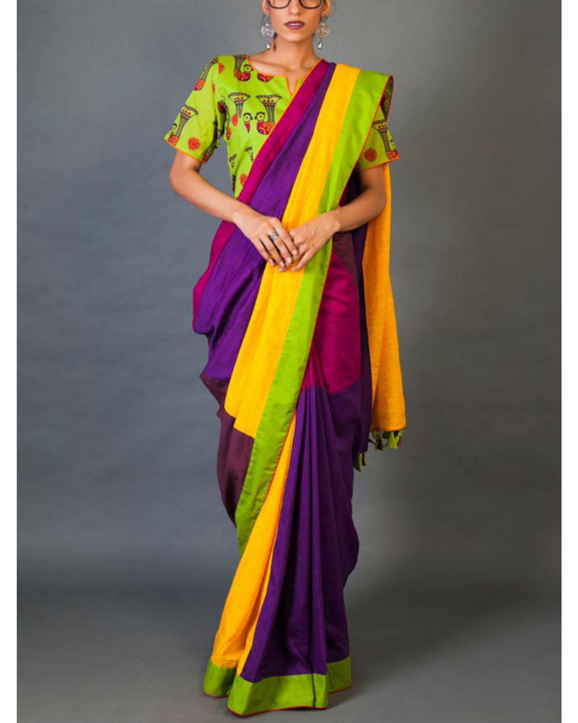 Mix and match sari