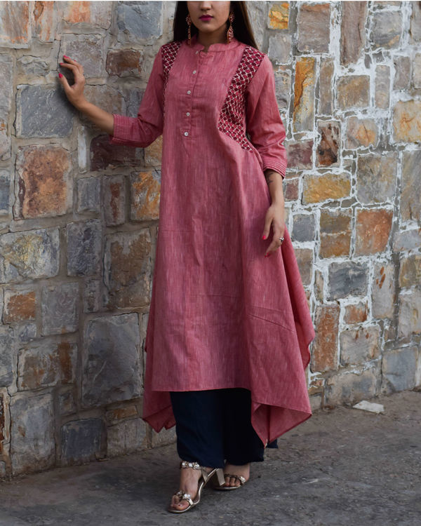 Pink boho tunic