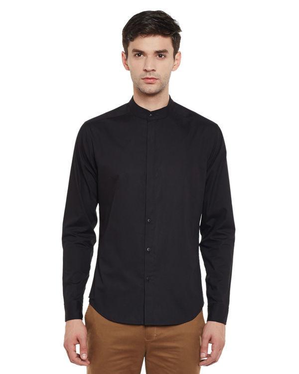 Slick black shirt