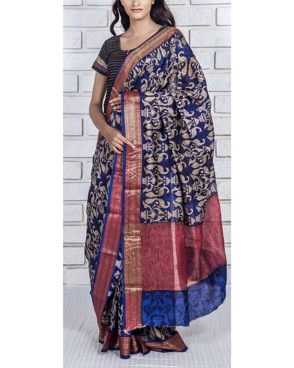 Zaffre drape sari