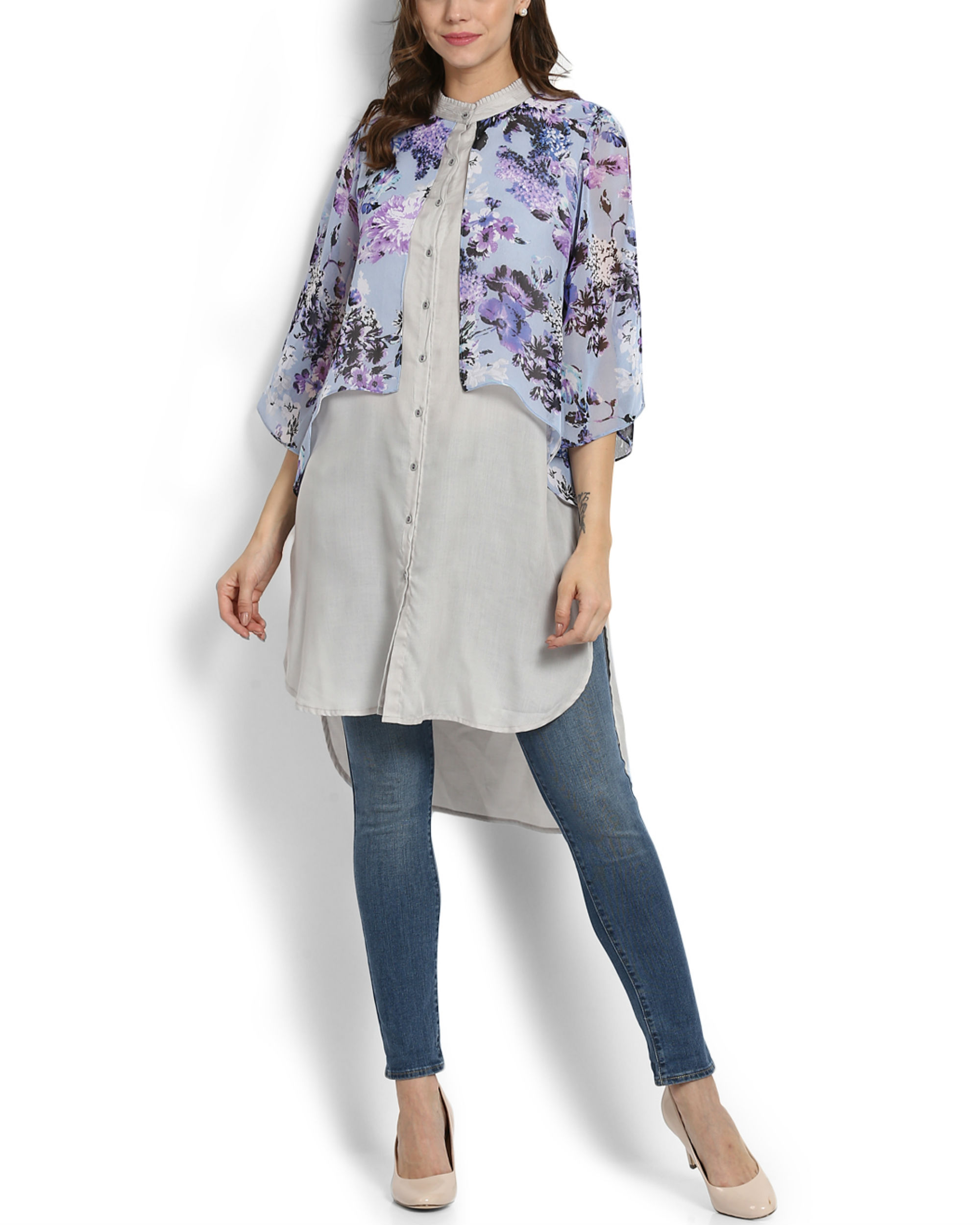 Lilac layered tunic