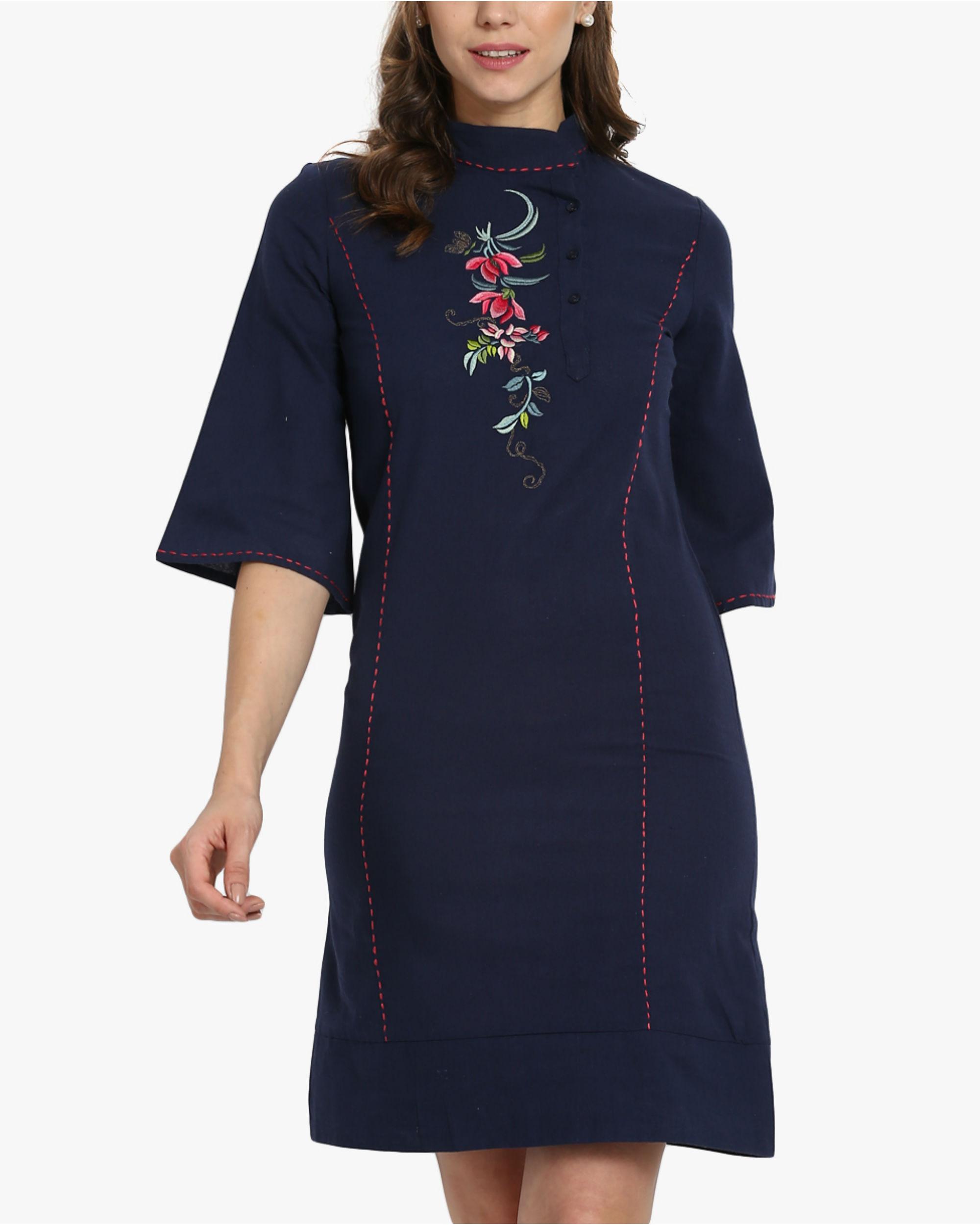 Oriental khadi dress