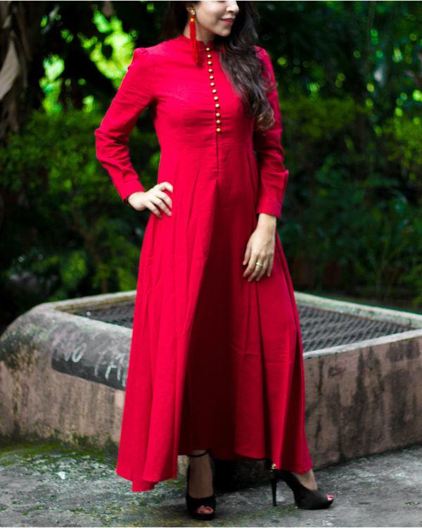 Royal Red Maxi Dress