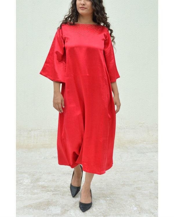 Red Dana A-line Dress