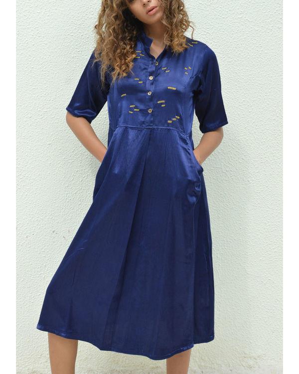 Navy dash shirt dress