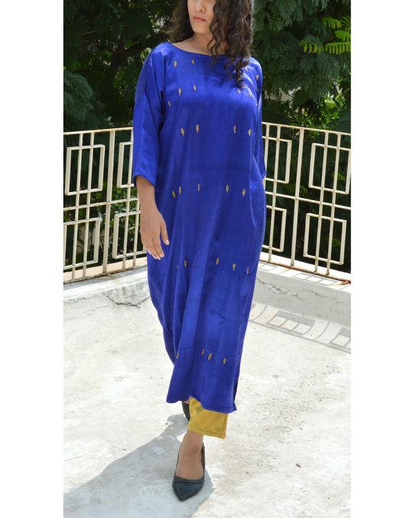 Blue leaf anti-fit tunic