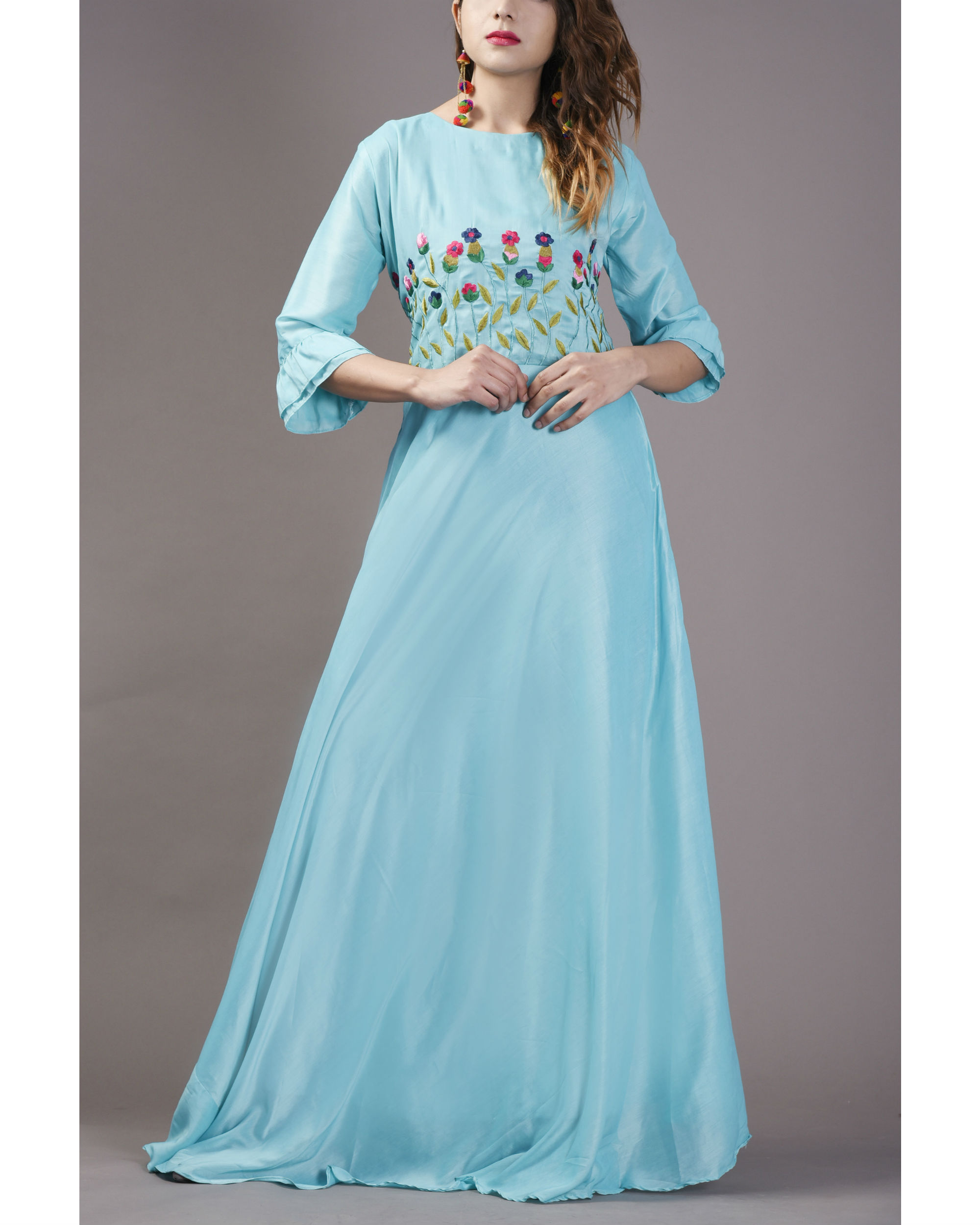 Arctic bell flared gown