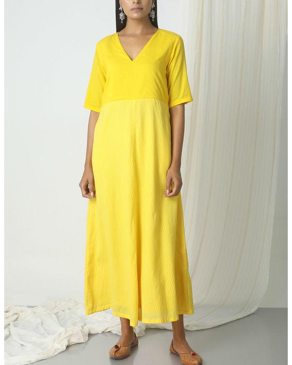 Yellow stripe kurta dress
