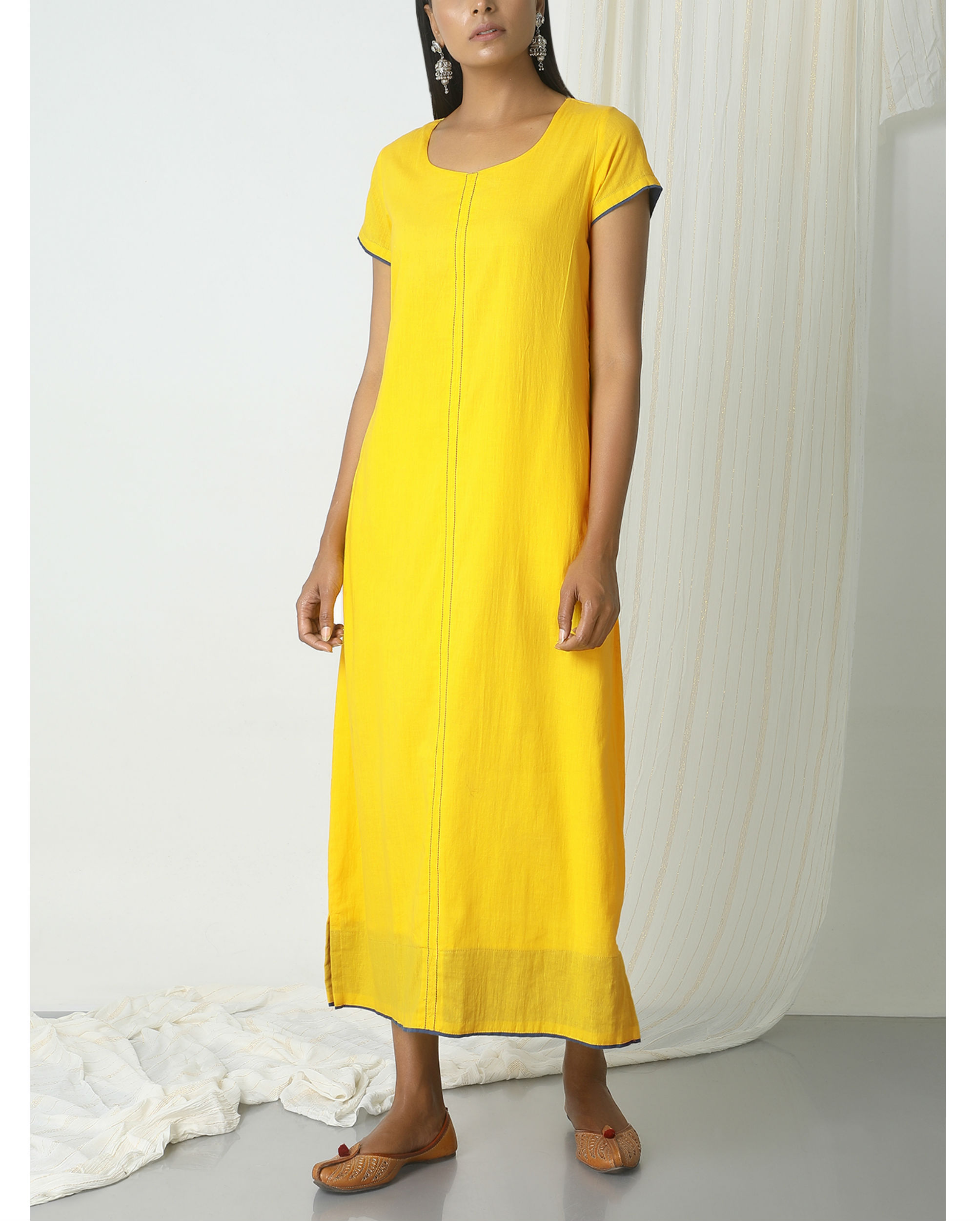Yellow box kurta dress