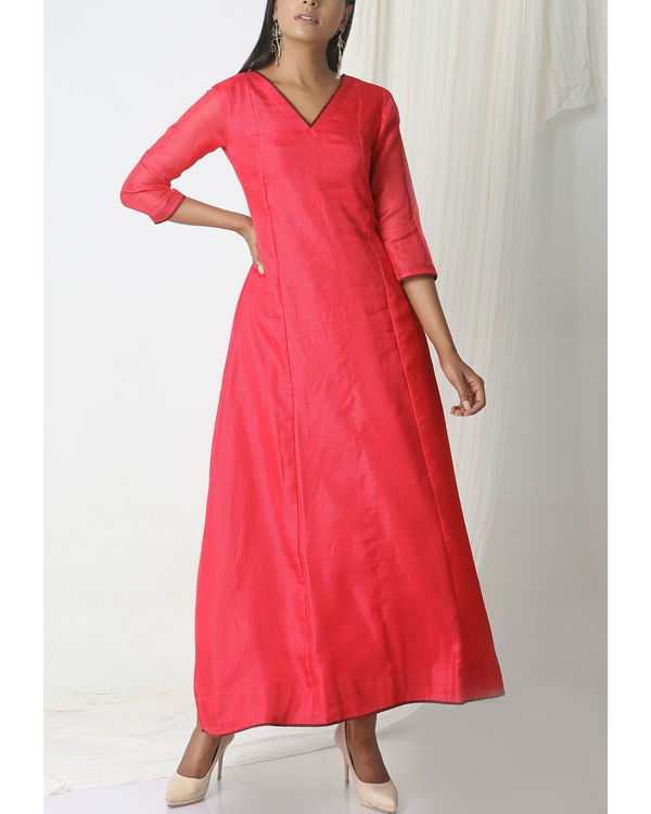 Pink kota silk dress