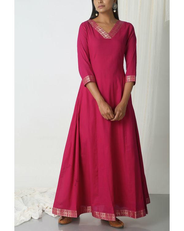 Pink golden border dress