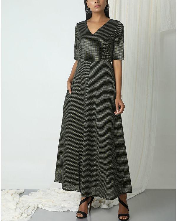 Black dots stripe dress