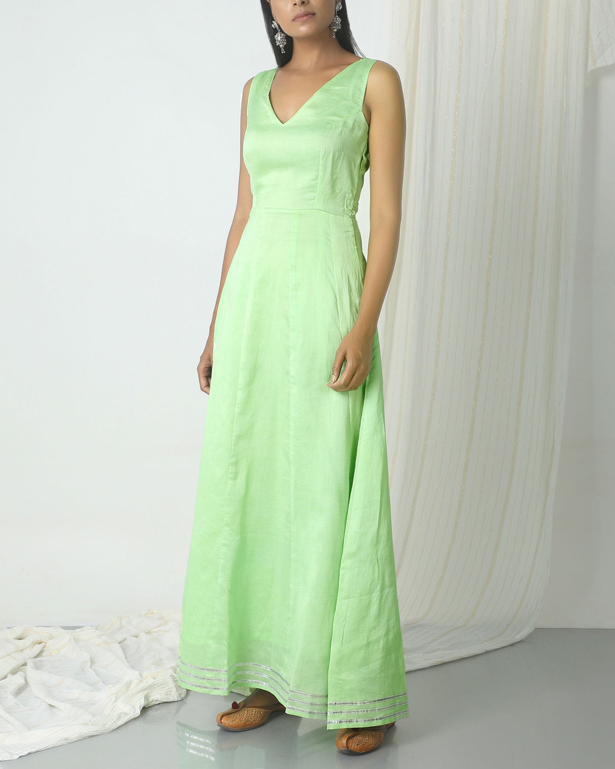 Mint green gota dress