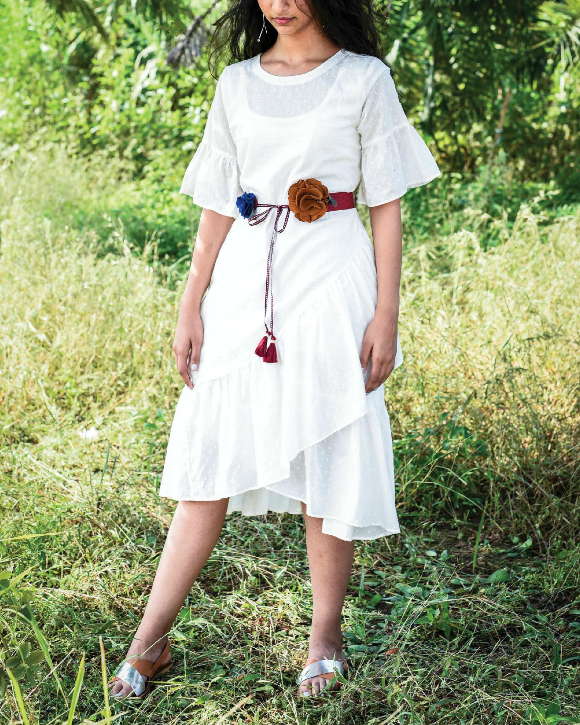 Dago ruffle dress
