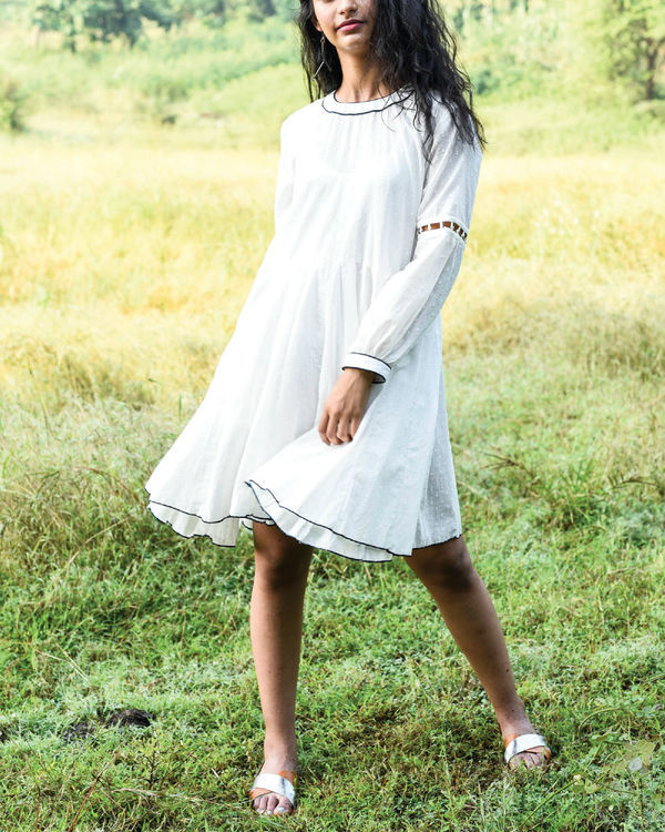 Ivory dago flared dress