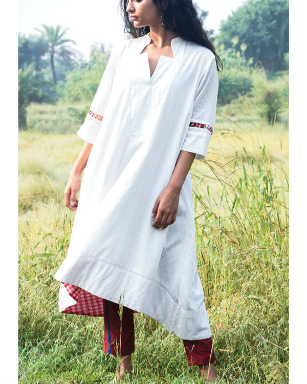 Flared ivory kurta and pants