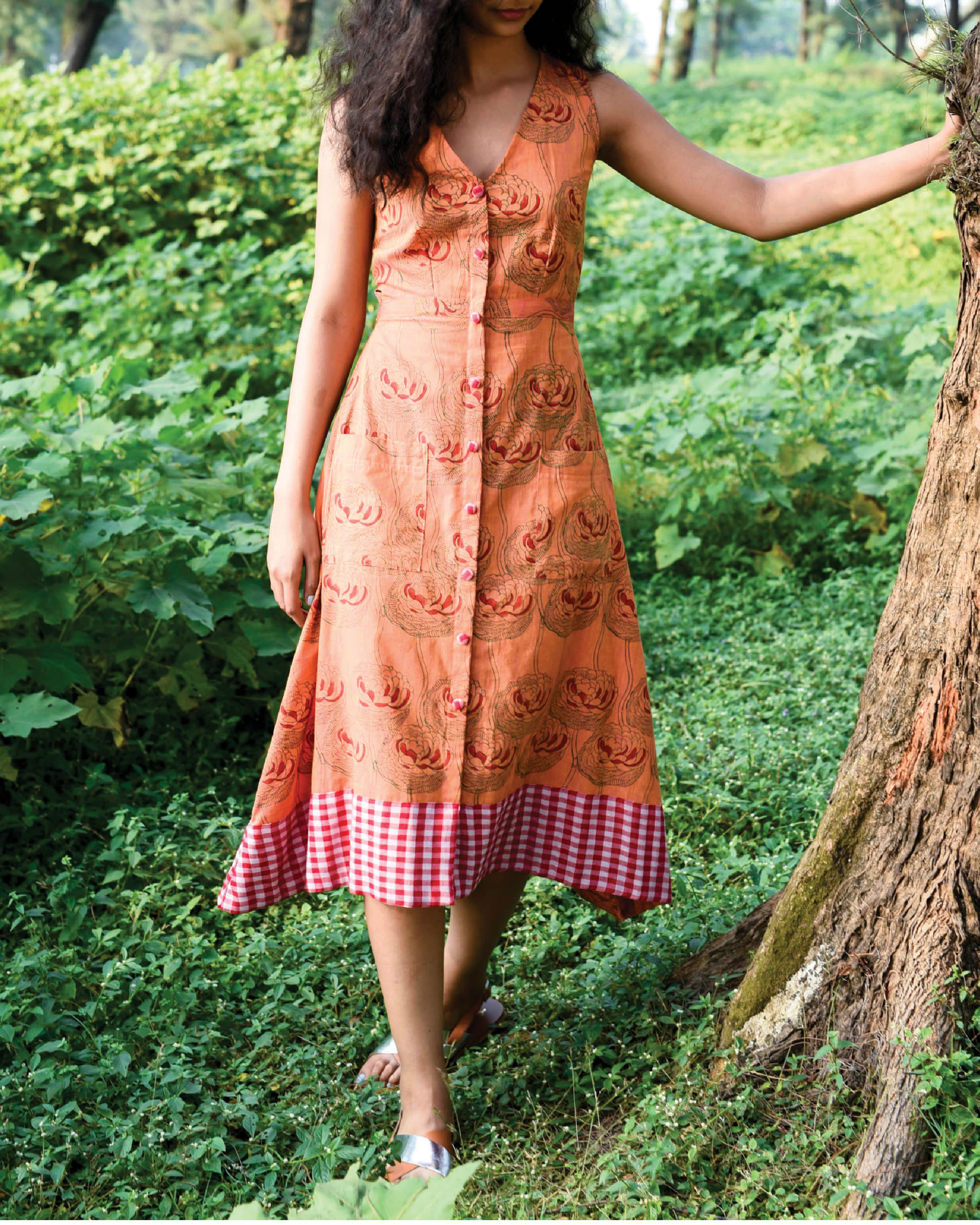 Pumpkin orange dochula dress