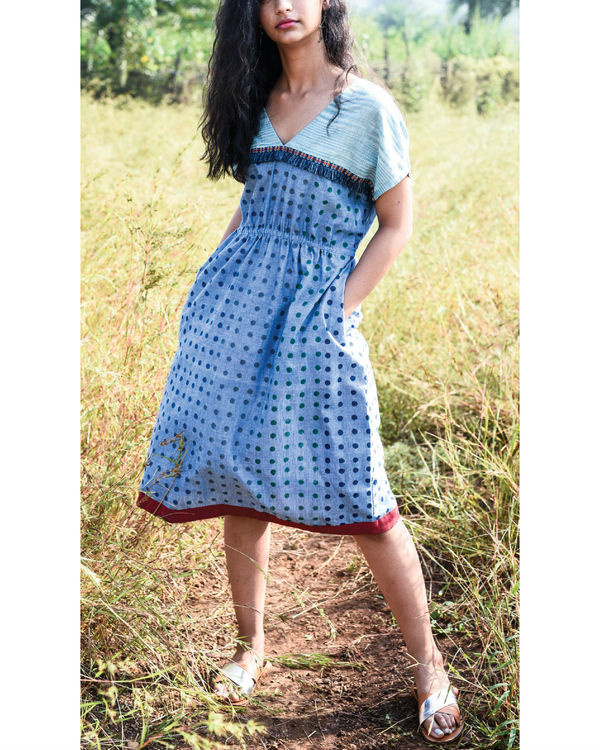 Siam blue jigme dress