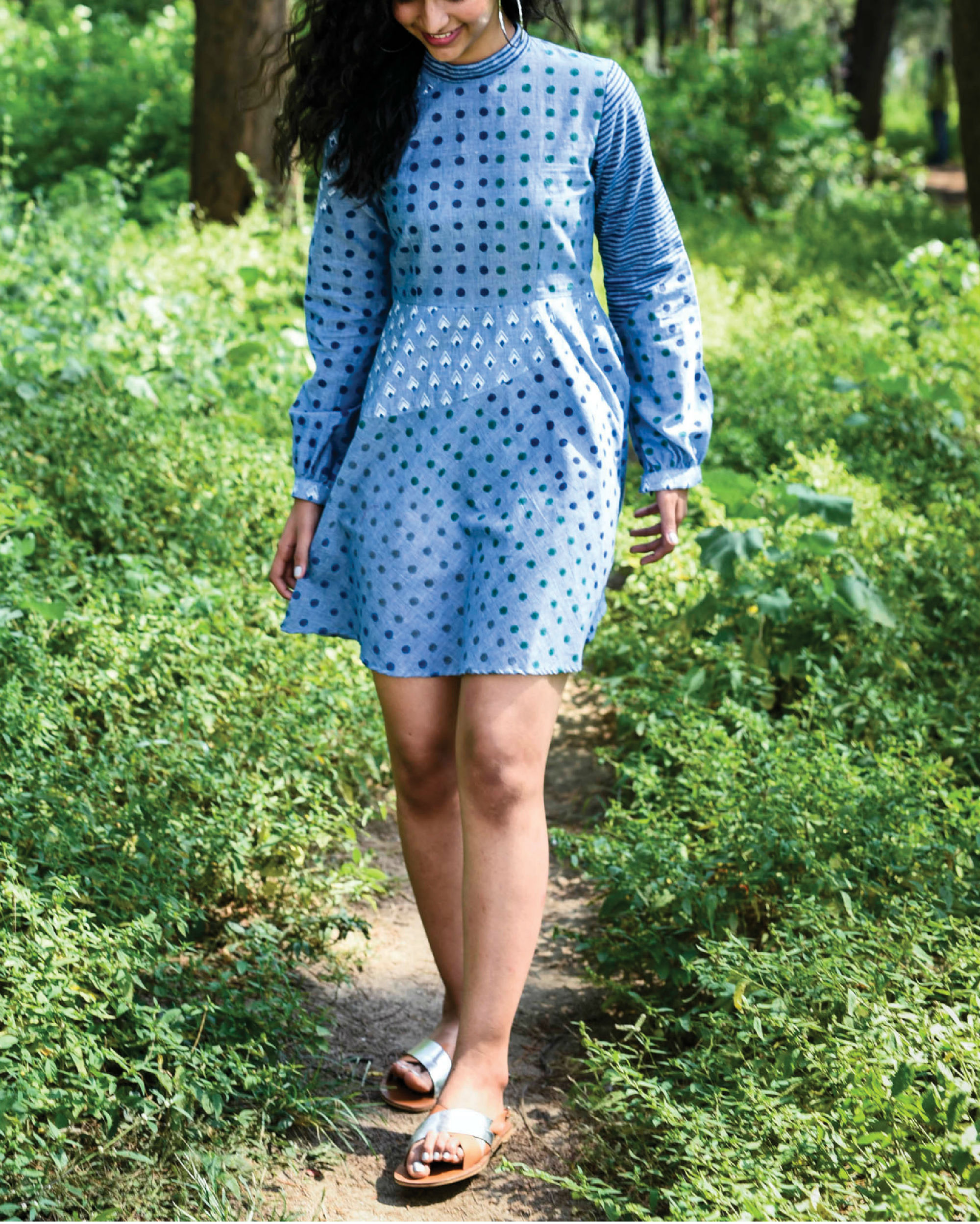 Siam blue punakha dress