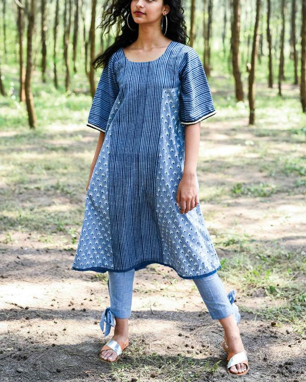 Siam blue sangay kurta