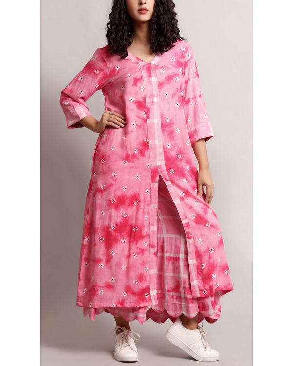 Pink floral kurta set