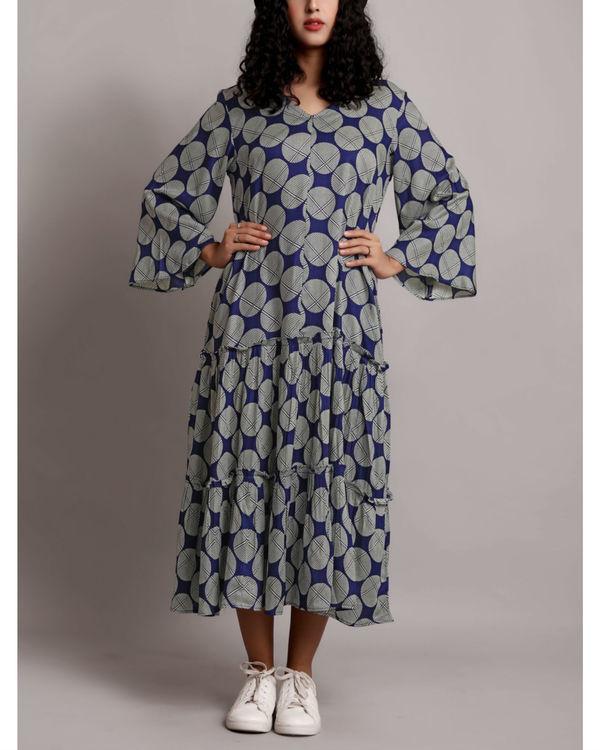 Blue twin tier dress