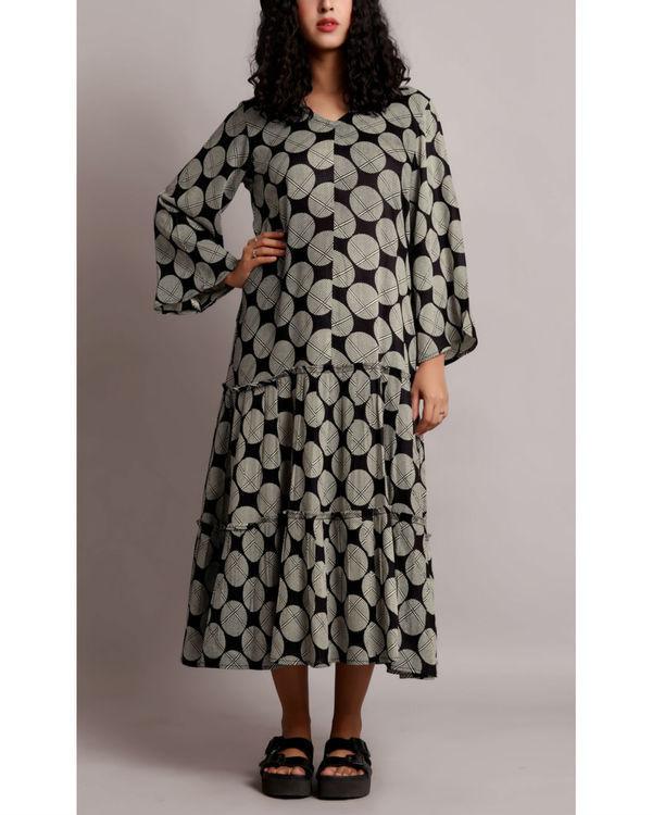 Black twin tier dress